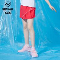 诺诗兰童装儿童裙裤2021夏女童户外速干假两件网球羽毛球运动短裤