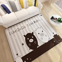 客厅地毯茶几卧室可爱满铺床边小地毯儿童公主房粉色地毯垫可机洗SN0290