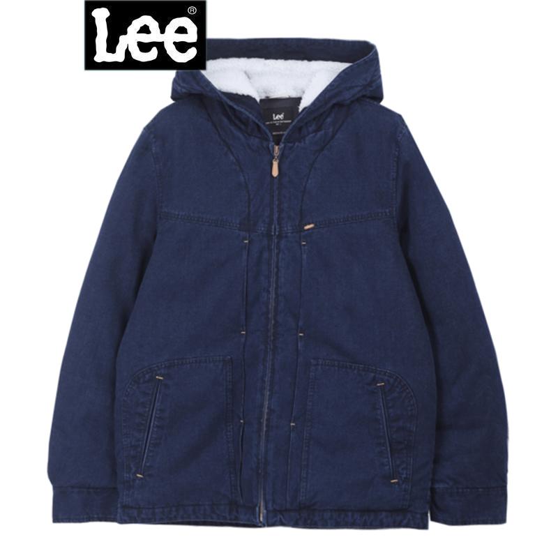Lee男装 2017秋冬新品商场同款羊羔绒连帽牛仔羽绒服L295681BH6QD