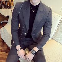 春装新款韩版修身时尚休闲西装外套潮流英伦男士百搭西服礼服