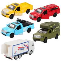 小汽车套装警车仿真回力迷你玩具车儿童串车跑车模型男孩玩具
