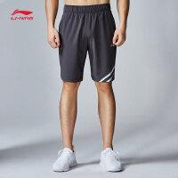 李宁运动短裤男士新款训练系列薄款修身短装夏季梭织运动裤AKSN259