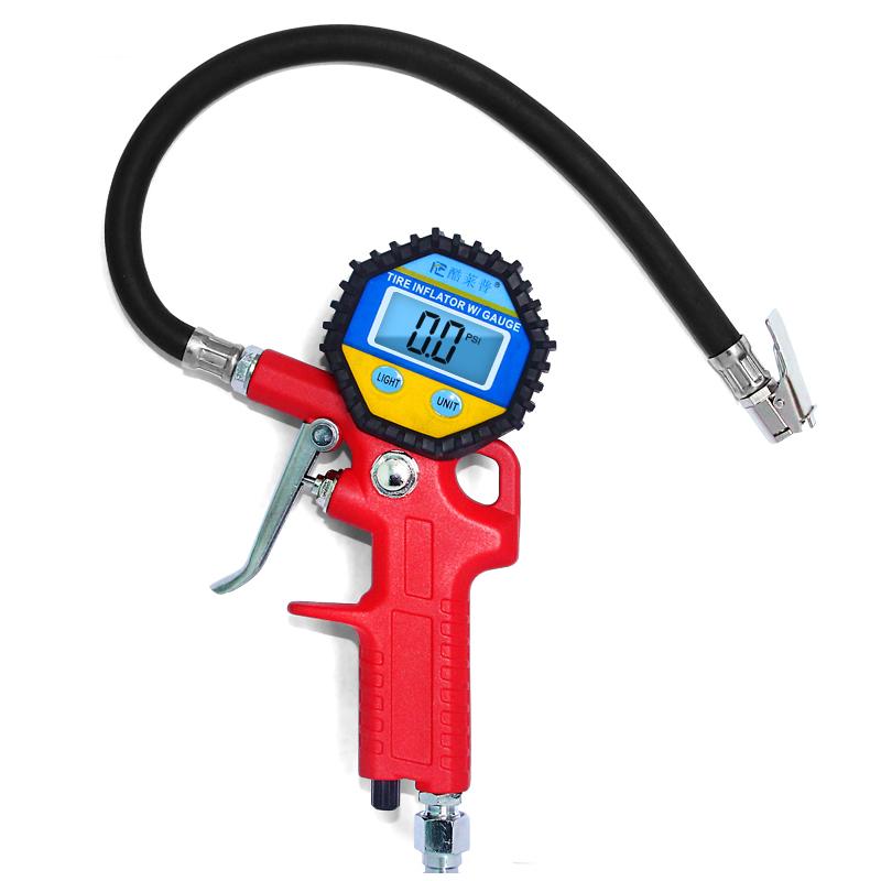 数显汽车轮胎气压表 高精度车用胎压表压力表测压器充气枪