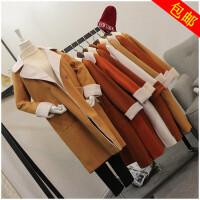 冬季加厚呢大衣中长款长袖韩版毛呢外套女潮50976