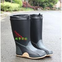 雨鞋男款高筒橡胶劳保工作水鞋防滑防水钓鱼雨靴胶鞋