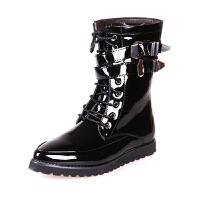 2015冬季男士增高筒靴男靴子英伦潮流皮靴 长靴马丁靴 演出靴长筒军靴  演唱会表演鞋