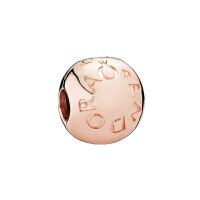 【网易考拉】PANDORA潘多拉 玫瑰金色经典logo固定扣 玫瑰金色 781015
