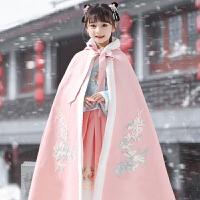 儿童汉服斗篷挡风秋冬外出防风古装中国风女童公主古风披风冬