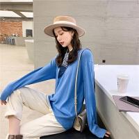七格格宽松慵懒毛衣2020年新款女装春季减龄洋气套头外穿针织上衣