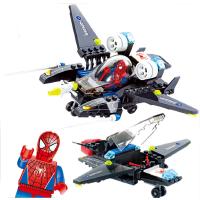 模型动漫早教益智拼装飞机 儿童拼插积木塑料112粒