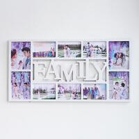 欧式family创意连体相框墙7寸6寸10画框组合照片墙相框挂 7寸4张竖版 6寸6张横版