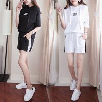 休闲运动服套装女春夏2018新款韩版两件套显瘦学生纯棉大码卫衣潮
