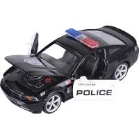儿童玩具车汽车模型彩珀福特野马GT警车 合金车模 声光回力