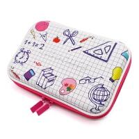 笔袋 笔盒独角兽笔袋韩版可爱卡通大容量笔袋 黑色 Emoji