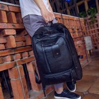 韩版男士双肩包休闲复古背包男学院风中学生书包潮包旅行包电脑包