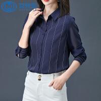 【年货节 直降到底】雪纺衬衫女长袖韩版2020秋装新款职业洋气上衣设计感小众打底衬衣