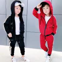 2018童装女宝宝韩版运动套装男童纯棉两件套春秋休闲服男宝春装潮