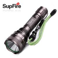正品包邮SupFire F9 强光手电筒 美国CREE L2 骑行家用远射套装
