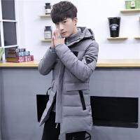 棉衣男士冬季外套加厚韩版潮流修身帅气青年冬装中长款棉袄子