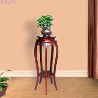 实木木质花架中式仿古绿萝室内客厅多层圆形榆木盆景吊兰花盆