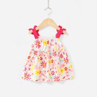婴儿吊带背心1-3女童上衣夏幼儿纯棉儿童夏季薄款5一岁女宝宝夏装