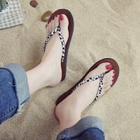 人字拖女外穿平底夹趾可湿水夏季时尚新款chic时尚ifashion拖鞋潮