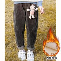 女童裤子加绒新款冬季大儿童休闲裤子秋冬外穿运动裤