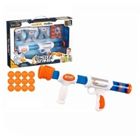 智力开发亲子互动动脑儿童仿真空气动力枪男孩水晶软弹玩具 单把