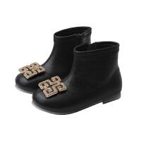 女童皮靴儿童洋气短靴小靴子宝宝秋冬女孩公主单靴