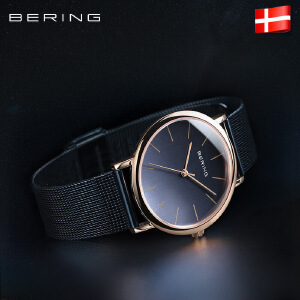 Bering手表女白令进口正品防水石英表复古皮带钢带女简约潮流腕表