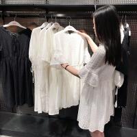 【2件1.5折】唐狮连衣裙女夏2019新款春夏仙女裙学生甜美白色蕾丝ins裙子显瘦