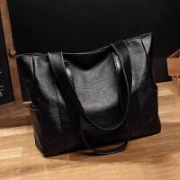 女包包2019新款百搭手提包挎包单肩简约大包包 黑色