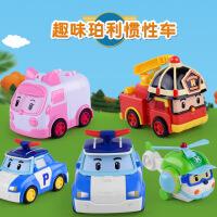 儿童正版珀利救援车套装惯性汽车仿真飞机警车男孩消防玩具工程车