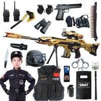 儿童警察军人套装特警装备玩具枪水弹阻击枪软弹枪