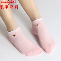 茉蒂菲莉 中筒袜 女式新款秋冬小熊学生袜女士卡通少女棉袜时尚袜子(5双装)