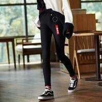 【2件2.5折价81元】唐狮冬装新款休闲裤女弹力加绒中腰紧身小脚打底裤