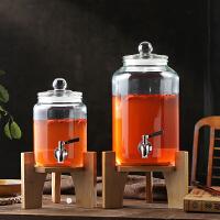 酒瓶泡酒坛子家用3斤5斤装带不锈钢龙头冰桶密封酒罐盛酒器玻璃