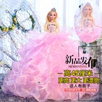 婚纱芭比洋娃娃3D真眼儿童女孩生日礼物玩具新娘白雪公主时尚摆件