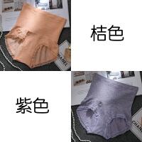 2条 高腰收腹腰内裤女夏薄款纯棉裆 产后提臀塑身莫代尔蕾丝大码 桔 紫