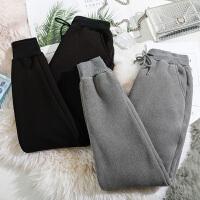 羊羔绒打底裤女冬季黑色阔腿加厚加绒超厚保暖裤外穿东北特厚棉裤