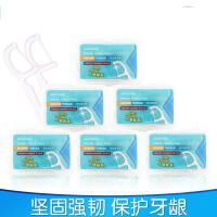 【支持礼品卡】圆线超细护理牙线棒 家庭装安全剔牙牙签50支*12盒 i0f