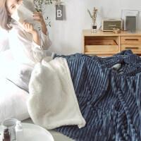 双层加厚毛毯+被套单件 珊瑚绒毯法兰绒被罩保暖毯子冬季午睡盖毯