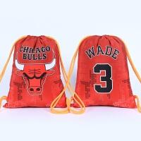 篮球公牛韦德乔丹马刺邓肯伦纳德运动背囊背包束口袋荧光粗绳防水运动篮球背包
