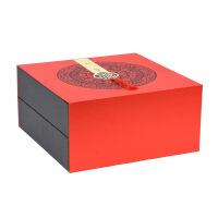 中秋特惠2018中秋节月饼包装盒冰皮定制礼盒 8粒双层福礼手提纸盒礼品 红色 32x32x15.5cm