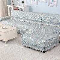 欧式田园沙发垫四季通用布艺坐垫简约现代沙发套包套罩盖J