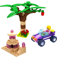 公主系列城堡玩具积木女孩拼插3-6岁儿童玩具公主粉