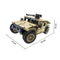积木拼装玩具军事坦克模型电动遥控车汽车科技系列机械组益智男孩