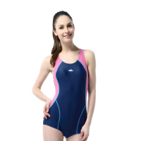 YINGFA英发 女款连体平角泳衣YF1603 女款修身显瘦运动游泳衣