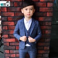 5宝宝西服男1-3岁潮套装帅气7儿童西装三件套韩版6男童礼服冬加绒