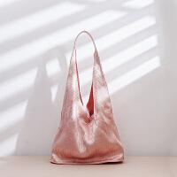 布包包女2018新款原创设计褶皱包购物袋帆布包女单肩包女大包